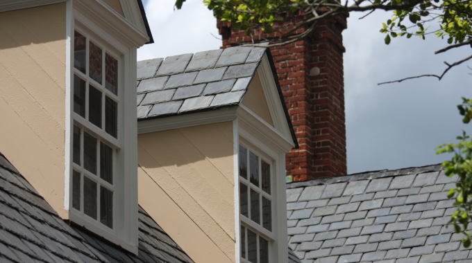 Slate Roofing Shingles At A House In Winfield, Illinois