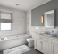 Remodeled White Bathroom Of A House In Wheaton, Illinois